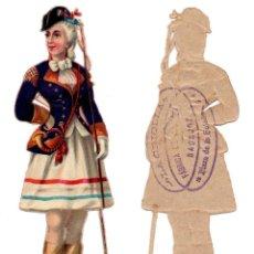 Coleccionismo Cromos troquelados antiguos: CROMO TROQUELADO SIGLO XIX - PROPAGANDA CHOCOLATES LA CRIOLLA BADAJOZ. Lote 96939103