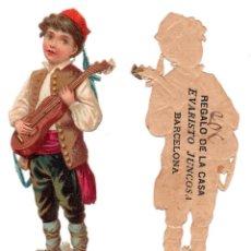 Coleccionismo Cromos troquelados antiguos: CROMO TROQUELADO SIGLO XIX - PROPAGANDA REGALOS EVARISTO JUCOSA - BARCELONA. Lote 96939223