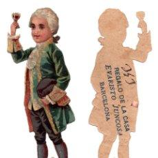 Coleccionismo Cromos troquelados antiguos: CROMO TROQUELADO SIGLO XIX - PROPAGANDA REGALOS EVARISTO JUCOSA - BARCELONA. Lote 96939391