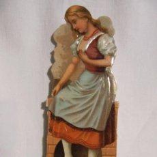 Coleccionismo Cromos troquelados antiguos: CROMO TROQUELADO - CINDERELLA CENICIENTA- 15 CM. X 5.5 CM. - CHOCOLATE AMATLLER BARCELONA - FIN XIX. Lote 97831603