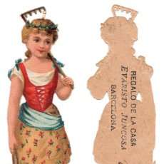 Coleccionismo Cromos troquelados antiguos: CROMO TROQUELADO SIGLO XIX - PROPAGANDA REGALOS EVARISTO JUCOSA - BARCELONA. Lote 100068559