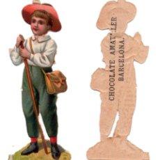 Coleccionismo Cromos troquelados antiguos: CROMO TROQUELADO SIGLO XIX - CHOCOLATES AMATLLER, BARCELONA . Lote 100086591
