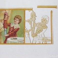 Coleccionismo Cromos troquelados antiguos: ANTIGUO CROMO TROQUELADO PARA DIBUJAR Y COLOREAR DE CHOCOLATES CAFES Y TES DE LA COMPAÑIA COLONIAL. Lote 101952059
