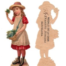 Coleccionismo Cromos troquelados antiguos: CROMO TROQUELADO SIGLO XIX - PROPAGANDA CHOCOLATE EVARISTO JUNCOSA - BARCELONA. Lote 104022019