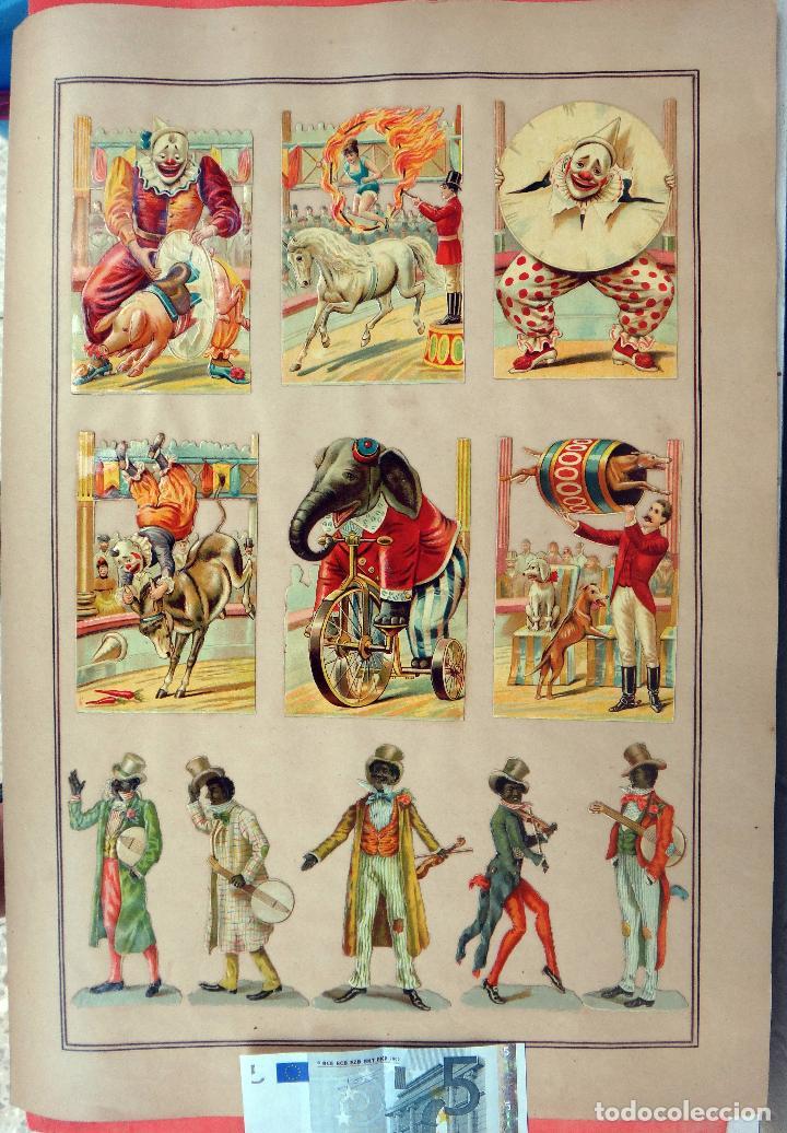 CROMOS TROQUELADOS, SIGLO XIX, LAMINA TIPO CARTEL , CIRCO , ORIGINAL (Coleccionismo - Cromos y Álbumes - Cromos Troquelados)