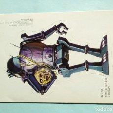 Coleccionismo Cromos troquelados antiguos: PEGATINA CROMO TROQUELADO ADHESIVO BRUGUERA N-33 TIXTUR ROBOT AÑO 1976. Lote 108012391