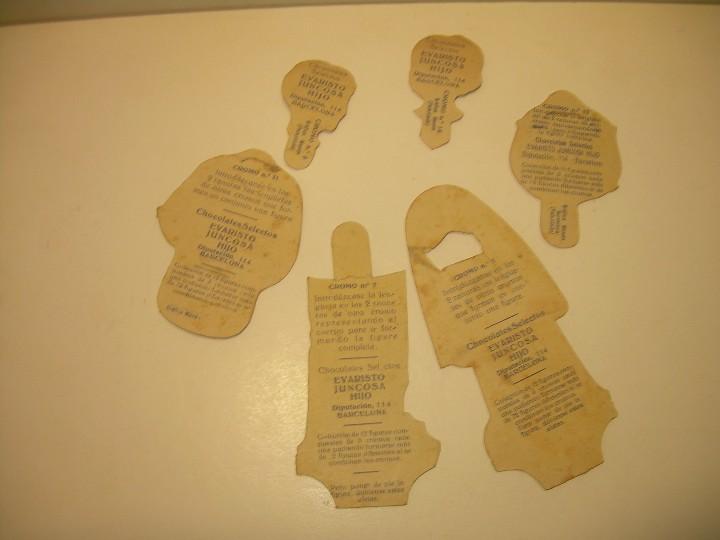 Coleccionismo Cromos troquelados antiguos: ANTIGUOS CROMOS CHOCOLATE EVARISTO JUNCOSA. - Foto 2 - 111205011