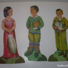 Coleccionismo Cromos troquelados antiguos: ANTIGUOS CROMOS CHOCOLATE EVARISTO JUNCOSA.. Lote 111205135