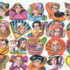 Colecionismo Cromos recortados antigos: CROMOS TROQUELADOS - LAMINA - CROMO DE PICAR - CABEZAS MUJER / MUJERES - NUEVO . Lote 112231271