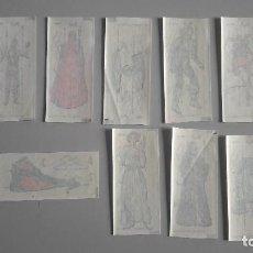 Coleccionismo Cromos troquelados antiguos: STAR WARS LOTE DE 9 CALCAMONIAS OFICIALES AÑO 1997 SIN USAR UNICAS. Lote 117029067