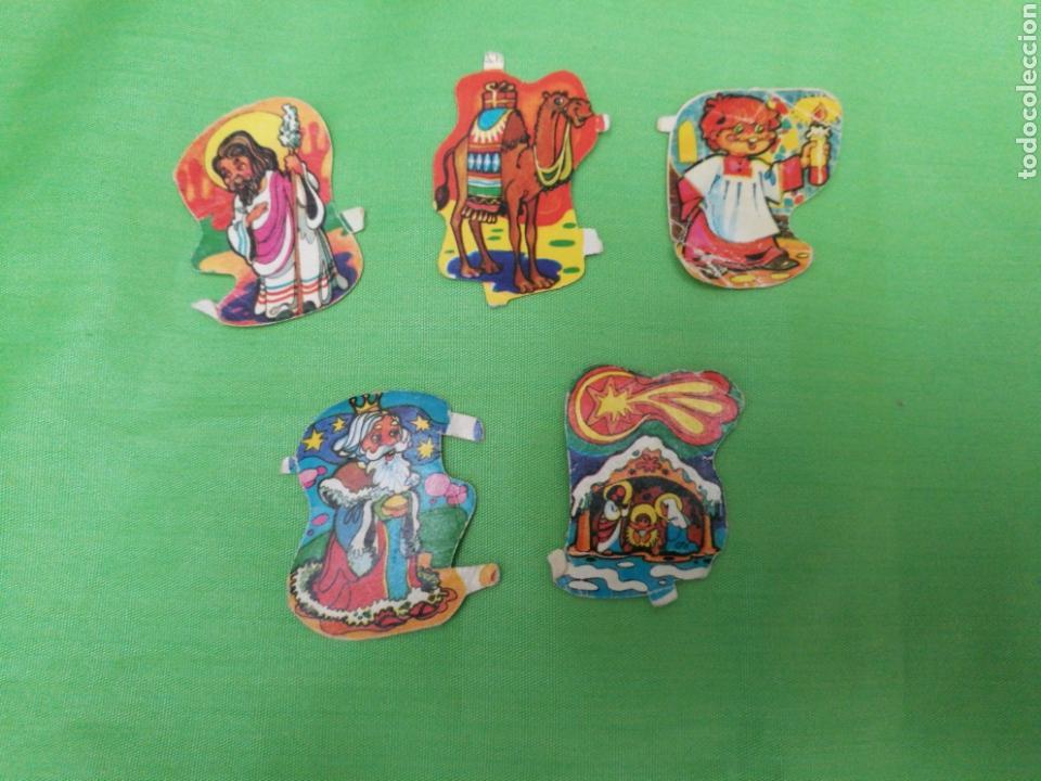 LOTE 5 CROMOS ANTIGUOS TROQUELADOS (Coleccionismo - Cromos y Álbumes - Cromos Troquelados)