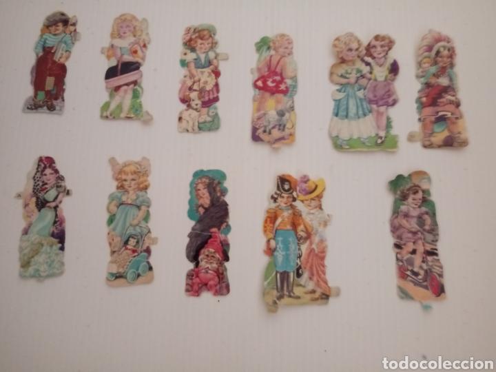 LOTE 11 CROMOS TROQUELADOS ANTIGUOS (Coleccionismo - Cromos y Álbumes - Cromos Troquelados)