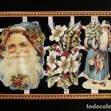 Coleccionismo Cromos troquelados antiguos: RR. LAMINA DE CROMOS TROQUELADOS SERIE ORO MLP - A67 - PAPA NOEL. Lote 122009583