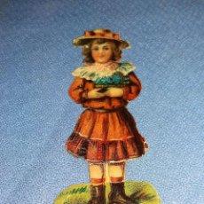 Coleccionismo Cromos troquelados antiguos: DIFICIL CROMO TROQUELADO MAQUINAS DE COSER WERTHEIM ALBACETE AÑOS 30. Lote 124914735