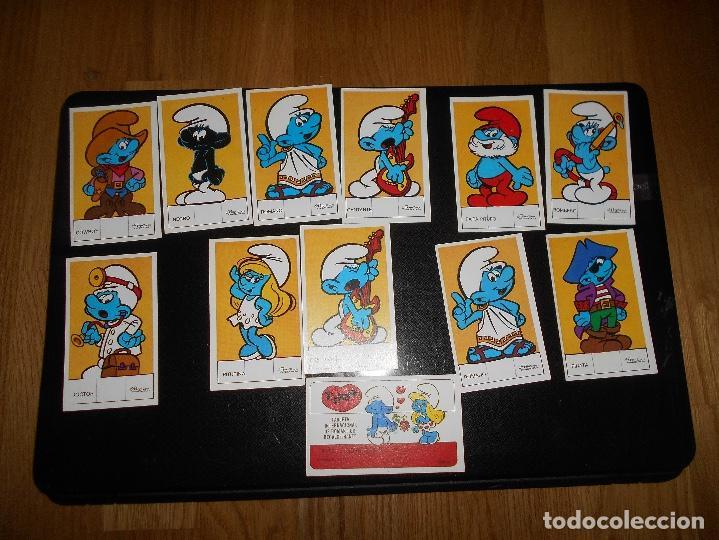 LOTE DE 12 CROMOS TARJETA PITUFOS DEPORTISTAS BOXEO LOS PITUFOS SMURFS (Coleccionismo - Cromos y Álbumes - Cromos Troquelados)