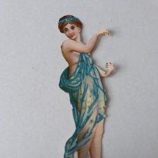 Coleccionismo Cromos troquelados antiguos: BAILARINA CROMO TROQUELADO SIGLO XIX. Lote 209680868
