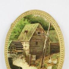 Coleccionismo Cromos troquelados antiguos: ANTIGUO CROMO DE PICAR / TROQUELADO - GALLETAS Y BIZCOCHOS LA GLORIA / PAISAJE CON MOLINO. Lote 128546111