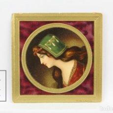 Coleccionismo Cromos troquelados antiguos: ANTIGUO CROMO DE PICAR / TROQUELADO - GALLETAS Y BIZCOCHOS LA GLORIA / RETRATO MUJER. Lote 128546239