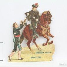 Coleccionismo Cromos troquelados antiguos: ANTIGUO CROMO DE PICAR / TROQUELADO - CHOCOLATE AMATLLER / CABALLERO. Lote 128546744