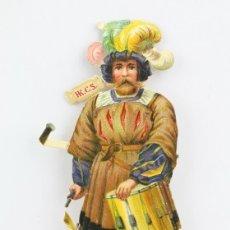 Coleccionismo Cromos troquelados antiguos: ANTIGUO CROMO DE PICAR / TROQUELADO - CHOCOLATES HKCS / TAMBOLINERO - SIN PUBLICIDAD. Lote 128546811