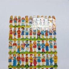 Coleccionismo Cromos troquelados antiguos: LÁMINA DE CROMOS TROQUELADOS ORIGINAL DE LOS AÑOS 60 F.B.. Lote 128951096