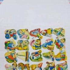 Coleccionismo Cromos troquelados antiguos: LÁMINA DE CROMOS TROQUELADOS ORIGINAL DE LOS AÑOS 60 F.B. 280. Lote 128951340