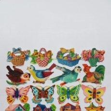 Coleccionismo Cromos troquelados antiguos: LÁMINA DE CROMOS TROQUELADOS ORIGINAL DE LOS AÑOS 60 EVA 118. Lote 128951398
