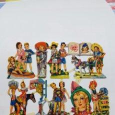 Coleccionismo Cromos troquelados antiguos: LÁMINA DE CROMOS TROQUELADOS ORIGINAL DE LOS AÑOS 60 F.B. 132. Lote 128951511