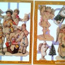 Coleccionismo Cromos troquelados antiguos: CROMOS TROQUELADOS INGLESES NAVIDAD. Lote 131598938