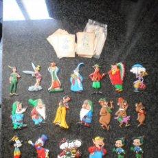 Coleccionismo Cromos troquelados antiguos: LOTE 22 FIGURAS CROMOPLAST WALT DISNEY. TROQUELADO PLÁSTICO ACOLCHADO. AÑOS 60. VER DESCRIPCIÓN. Lote 132174962