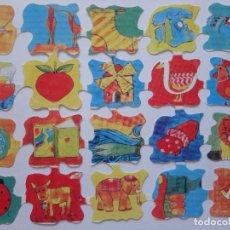 Coleccionismo Cromos troquelados antiguos: LÁMINA DE CROMOS TROQUELADOS INFANTILES.. Lote 222659201