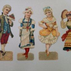 Coleccionismo Cromos troquelados antiguos: LOTE DE CUATRO ANTIGUOS CROMOS TROQUELADOS CHOCOLATES. Lote 136360645