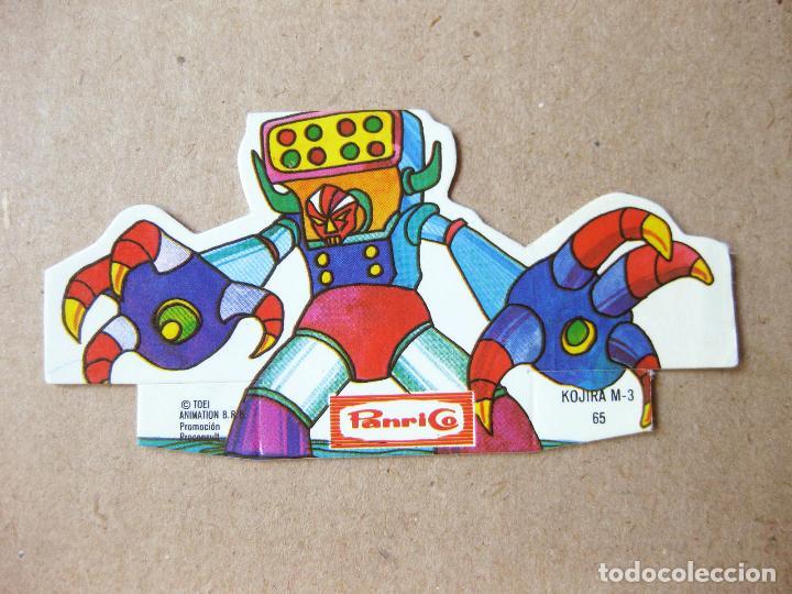 CROMO TROQUELADO DE MAZINGER Z PANRICO Nº 65 - KOJIRA M-3 (Coleccionismo - Cromos y Álbumes - Cromos Troquelados)