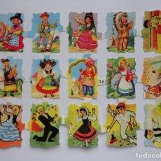 Coleccionismo Cromos troquelados antiguos: LÁMINA DE CROMOS TROQUELADOS INFANTILES.. Lote 194710350