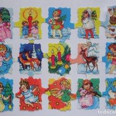 Coleccionismo Cromos troquelados antiguos: LÁMINA DE CROMOS TROQUELADOS INFANTILES.. Lote 222661538