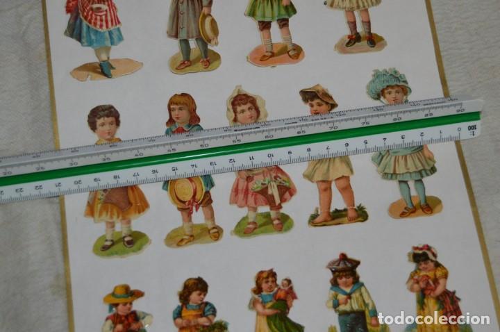 Coleccionismo Cromos troquelados antiguos: ANTIGUA HOJA CON CROMOS TROQUELADOS - TEMÁTICA VARIADA NIÑOS Y NIÑAS - ENVÍO 24H - HOJA LOTE Nº1 - Foto 6 - 139295686