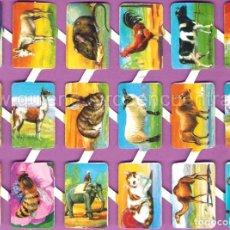 Coleccionismo Cromos troquelados antiguos: CROMOS TROQUELADOS O RECORTADOS DE PALMAR LOROÑO CON BRILLO Y RELIEVE ANIMALES DOMÉSTICOS. Lote 140204102