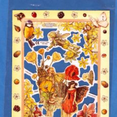 Coleccionismo Cromos troquelados antiguos: DECOUPAGE MANUALIDADES CROMOS RECORTADOS HADAS DE LAS FLORES CICELY MARY BARKER'S FLOWER FAIRIES. Lote 141871722