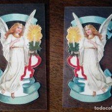 Coleccionismo Cromos troquelados antiguos: ANGEL TRANSPARENTE DOS CARAS DECOUPAGE MANUALIDADES CROMOS RECORTADOS . Lote 141883234