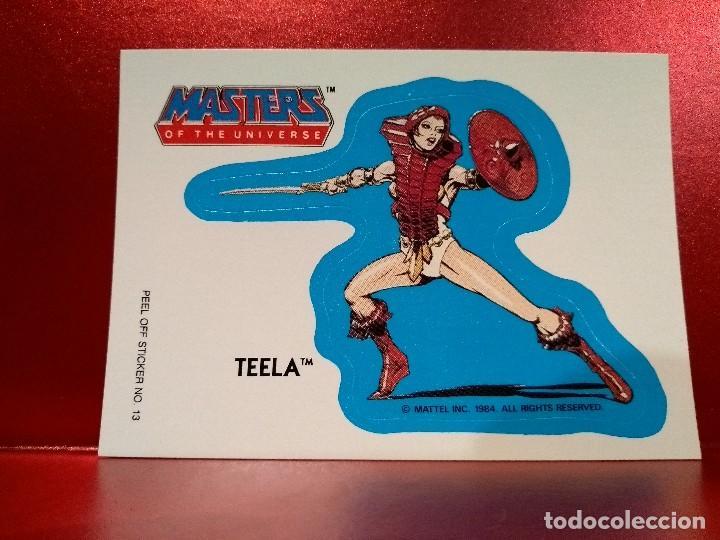 CROMO TROQUELADO TEELA - MASTERS UNIVERSE - MASTERS UNIVERSO - HEMAN - PEEL OFF STICKER Nº 13 (Coleccionismo - Cromos y Álbumes - Cromos Troquelados)