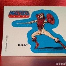 Coleccionismo Cromos troquelados antiguos: CROMO TROQUELADO TEELA - MASTERS UNIVERSE - MASTERS UNIVERSO - HEMAN - PEEL OFF STICKER Nº 13. Lote 142364998