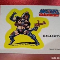 Coleccionismo Cromos troquelados antiguos: CROMO TROQUELADO MAN-E-FACES - MASTERS UNIVERSE - MASTERS UNIVERSO - HEMAN - PEEL OFF STICKER Nº 15. Lote 142365058