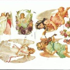 Coleccionismo Cromos troquelados antiguos: LÁMINA CROMOS TROQUELADOS EF 7135 ÁNGELES VICTORIANOS. Lote 146614938
