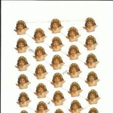 Coleccionismo Cromos troquelados antiguos: LÁMINA CROMOS TROQUELADOS EF 7192 ÁNGELES QUERUBINES VICTORIANOS. Lote 146616998