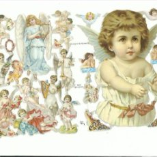 Coleccionismo Cromos troquelados antiguos: LÁMINA CROMOS TROQUELADOS EF 7072 ÁNGELES VICTORIANOS. Lote 146617162