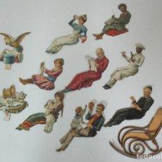 Coleccionismo Cromos troquelados antiguos: LOTE 10 CROMOS TROQUELADOS - CHOCOLATE PALTUBÍ, GRANOLLERS - CROMO MECEDORA Nº 1. Lote 148204666