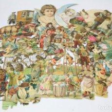 Coleccionismo Cromos troquelados antiguos: GRAN CONJUNTO DE ANTIGUOS CROMOS DE PICAR / TROQUELADOS - DIFERENTES CASAS DE CHOCOLOTES. Lote 150748278