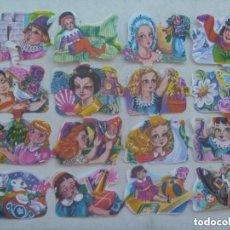 Coleccionismo Cromos troquelados antiguos: PLIEGO DE CROMOS TROQUELADOS, ORIGINALES : NIÑAS CON JUGUETES.. Lote 152337178