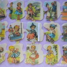 Coleccionismo Cromos troquelados antiguos: LÁMINA DE CROMOS TROQUELADOS INFANTILES.. Lote 222662436