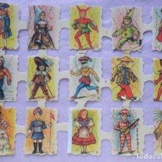 Coleccionismo Cromos troquelados antiguos: LÁMINA DE CROMOS TROQUELADOS INFANTILES.. Lote 222662313